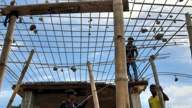 নাসিরনগরে ধসে পড়ল বিদ্যালয়ের নির্মাণাধীন ভবনের ছাদ